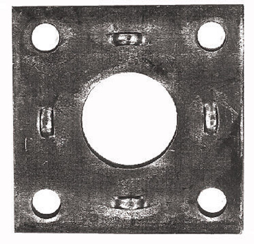 Adaptor Plate S/40Mm Rnd Hole For Elect/Mech Backing Plate | 6395 | Caravan Parts