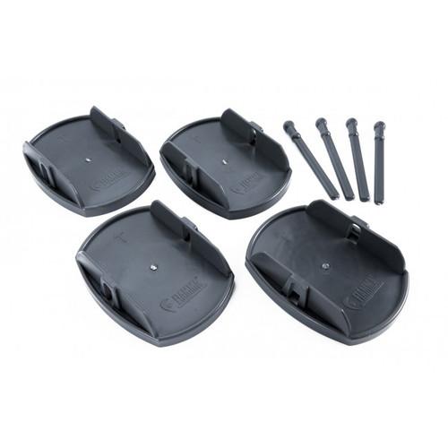 Fiamma Support Plates - Legs Box Of 4 Black | 6455 | Caravan Parts