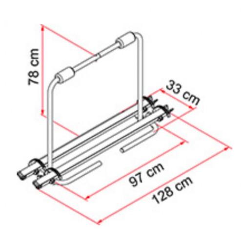 Diagram with measurements