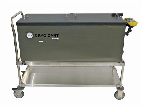 MVE CRYO CART - with Temp recorder and plumbing