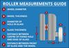 ROLL001L - Shower Door Roller Diagram