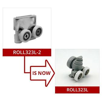 ROLL323L-2 - Lower Shower Door Roller - 21mm