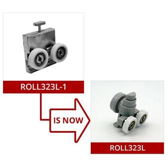ROLL323L-1 - Lower Shower Door Roller - 21mm