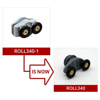 ROLL340-1 - Shower Door Roller - 21mm