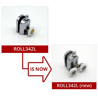 ROLL342L-1 - New Version Lower Double Wheel - 20mm