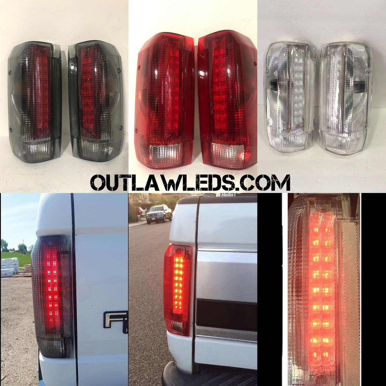 87-97 OBS LED Tail Lights