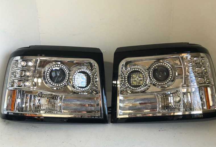 1992-1997 OBS Headlights Double Halo With Pod Retrofit