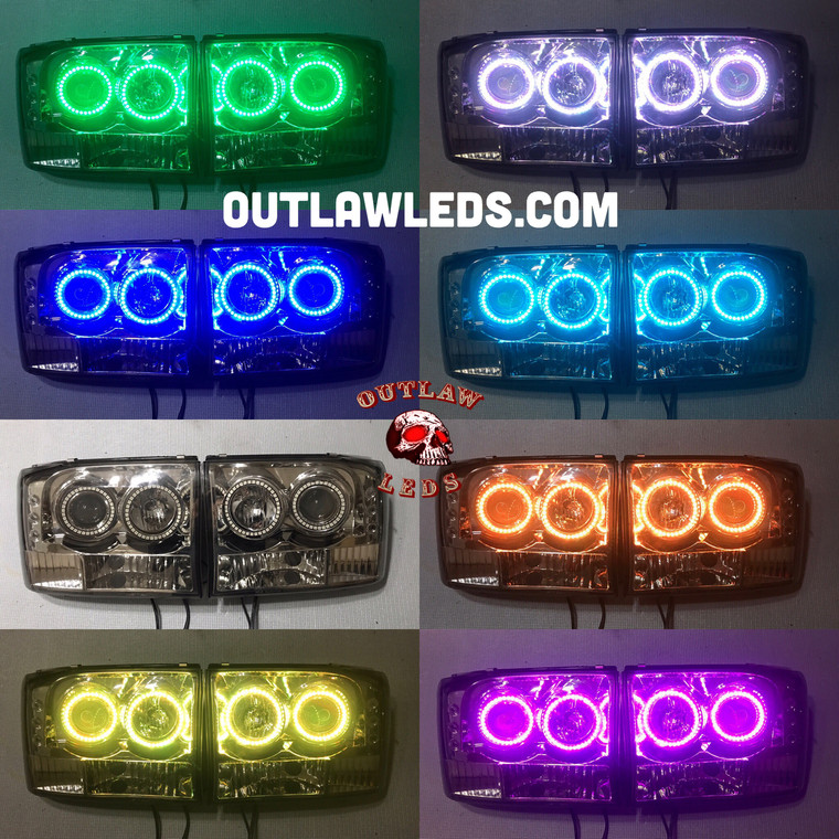 1999-2007 F250/F350 SuperDuty Double Halo Projector Headlights