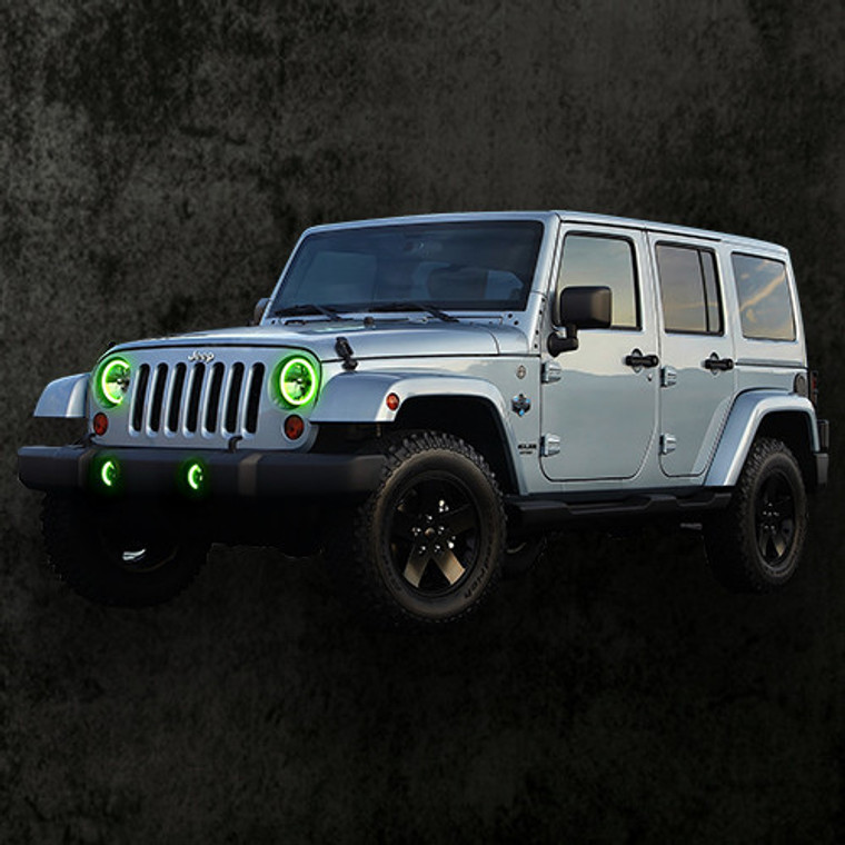 1997-2017 Jeep Wrangler Single Halo Kit Only