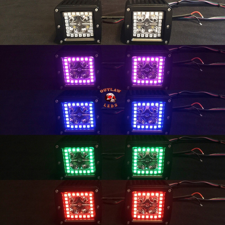 3x3 Inch Pods With Color Changing Halos Set