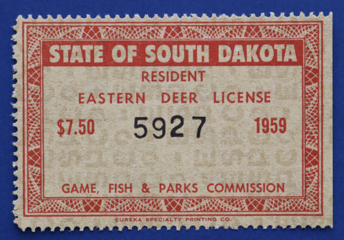 1959 South Dakota Eastern Deer License Stamp (SDED01)