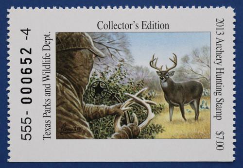 2013 Texas Archery Hunting Stamp (TXA39)