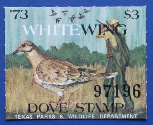 1973 Texas White-winged Dove Stamp (TXD03)