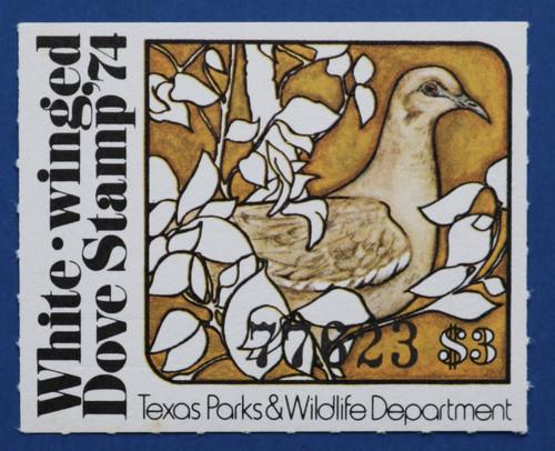 1974 Texas White-winged Dove Stamp (TXD04)
