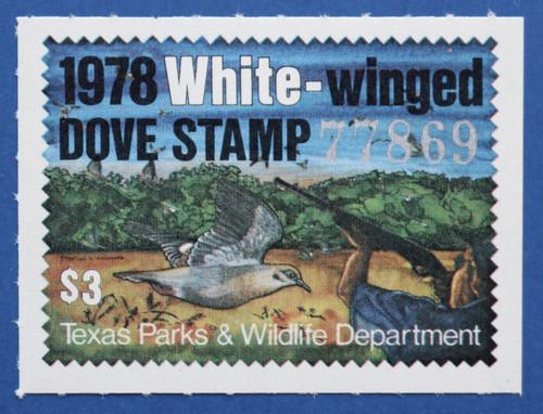 1978 Texas White-winged Dove Stamp (TXD08)