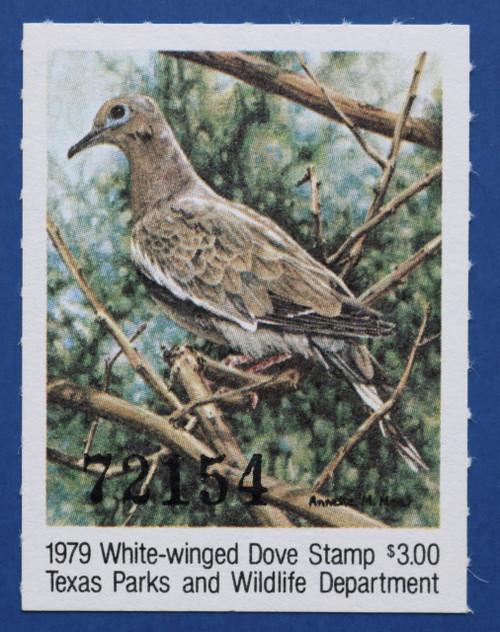 1979 Texas White-winged Dove Stamp (TXD09)