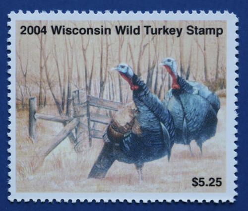 2004 Wisconsin Wild Turkey Stamp (WIWT22)