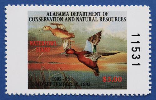 1992 Alabama State Duck Stamp (AL14)