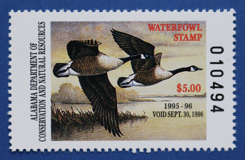 1995 Alabama State Duck Stamp