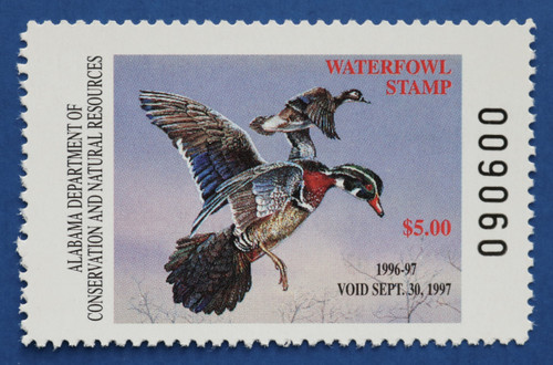 1996 Alabama State Duck Stamp