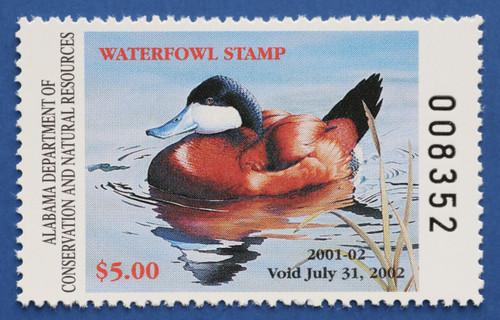 2001 Alabama State Duck Stamp (AL23)