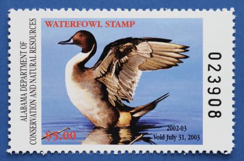 2002 Alabama State Duck Stamp (AL24)