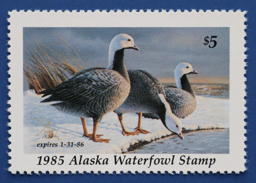 1985 Alaska State Duck Stamp - First of State (AK01)