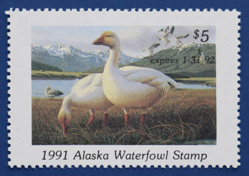 1991 Alaska State Duck Stamp (AK07)