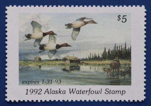 1992 Alaska State Duck Stamp (AK08)