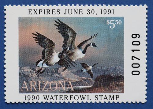 1990 Arizona State Duck Stamp (AZ04)
