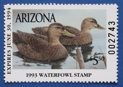 1993 Arizona State Duck Stamp (AZ07)