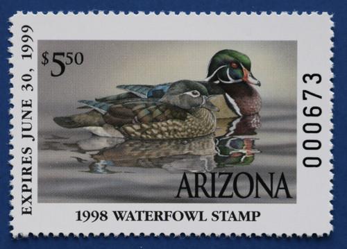 1998 Arizona State Duck Stamp (AZ12)