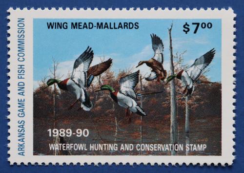 1989 Arkansas State Duck Stamp (AR09)