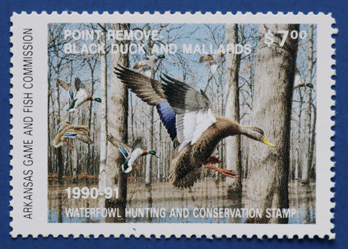 1990 Arkansas State Duck Stamp (AR10)