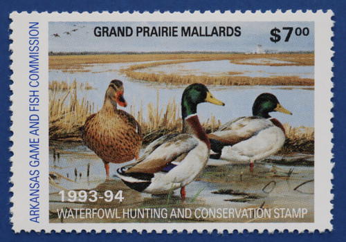 1993 Arkansas State Duck Stamp (AR13)
