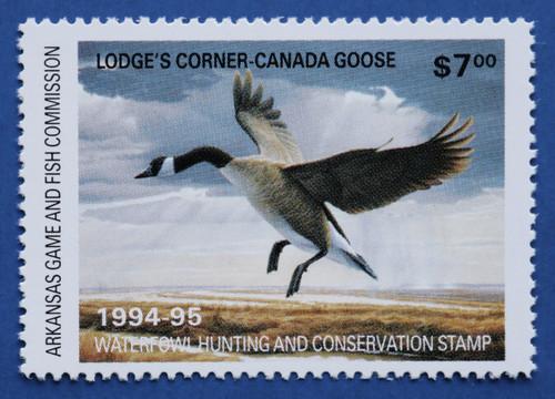 1994 Arkansas State Duck Stamp - hunter type (AR14h)