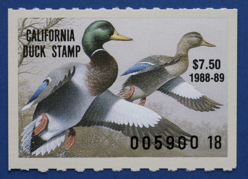 1988 California State Duck Stamp (CA18)