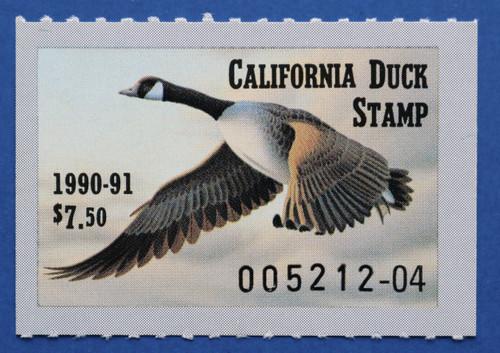 1990 California State Duck Stamp (CA20)