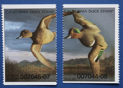 1998 California State Duck Stamp set (CA28a-b)