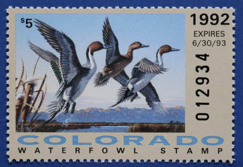 1992 Colorado State Duck Stamp (CO03)