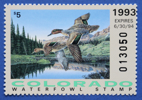 1993 Colorado State Duck Stamp (CO04)