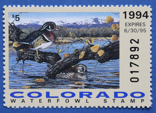 1994 Colorado State Duck Stamp (CO05)