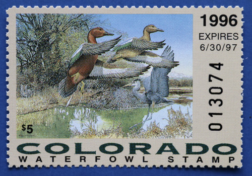 1996 Colorado State Duck Stamp (CO07)