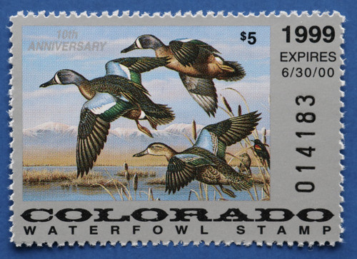 1999 Colorado State Duck Stamp (CO10)