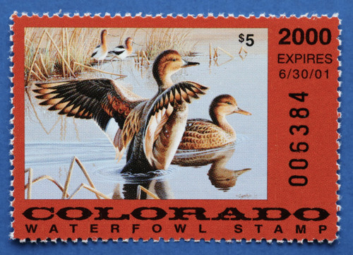 2000 Colorado State Duck Stamp (CO11)