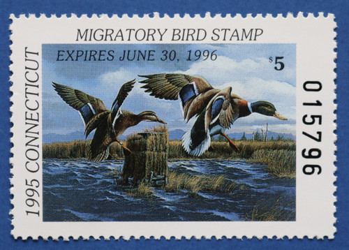 1995 Connecticut State Duck Stamp (CT03)