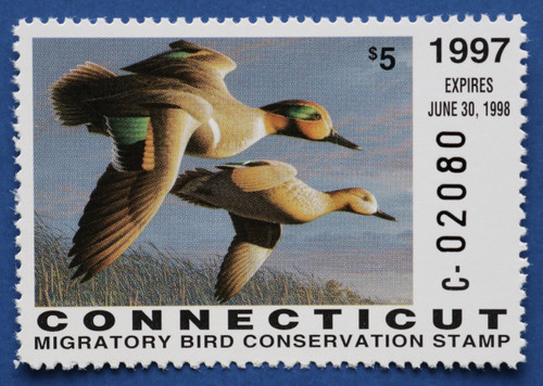 1997 Connecticut State Duck Stamp (CT05)