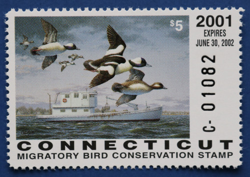 2001 Connecticut State Duck Stamp (CT09)