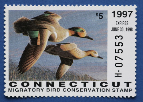 1997 Connecticut State Duck Stamp - hunter type (CT05h)