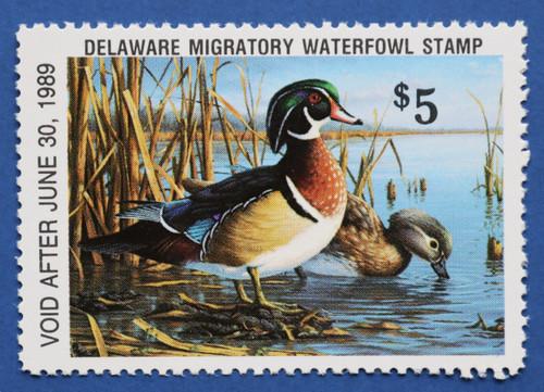 1988 Delaware State Duck Stamp (DE09)